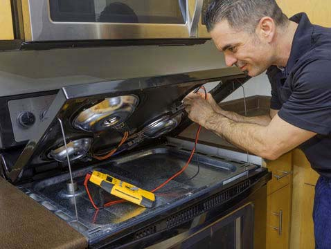 Range being repaired - Frederick Appliance Repairs