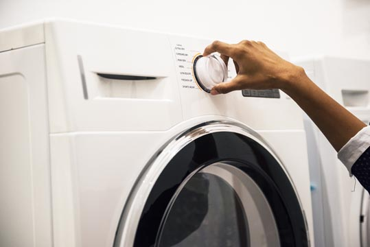 Selecting washing machine cycle